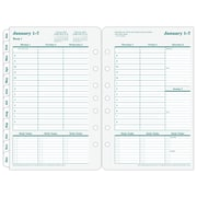 """2018 Franklin Covey® Recycled Original Two Page Per Week Planner Refill, Loose-Leaf, 5 1/2""""x8 1/2"""" (35423-18)"""