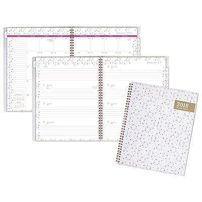 2018 AT-A-GLANCE® Spritz Customizable Weekly/Monthly Planner, 8 1/2