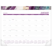 "2018 AT-A-GLANCE® Agate Monthly Desk Pad, 12 Months, January Start, 22"" x 17"" (D1053-704-18)"