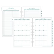 "2018 Franklin Covey® Original Two Page Per Month Planner Refill, Loose-Leaf, Classic Ring Bound, 5 1/2""x8 1/2"""