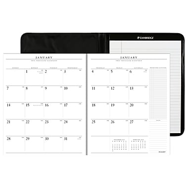 2018 AT-A-GLANCE® Executive Monthly Padfolio, 13 Months, 9