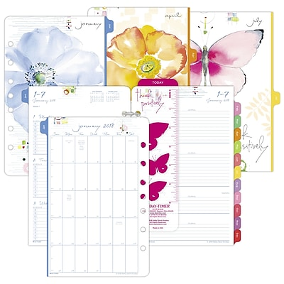 2018 Day-Timer Two Page Per Week Planner Refill, Loose-leaf, Desk Size, 5-1/2