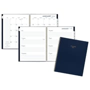 "2018 AT-A-GLANCE® Color Bar Weekly/Monthly Planner, 8 1/2""x11"", Navy"