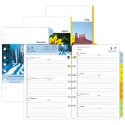 "2018 Day-Timer® Two Page Per Week Refill, Loose-Leaf, Desk Size, 5-1/2"" x 8-1/2"", Serenity (13691-1801)"