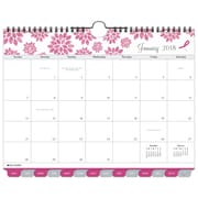 "2018 Day-Timer® Monthly Wall Calendar, Tabbed, January 2018-December 2018, 11""x8-1/2"", Pink Ribbon, Wirebound (11259-1801)"