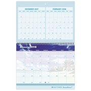 "2018 Day-Timer® Coastlines® Three-Month Wall Calendar, 12 Months, January Start, 11""x17"" (11257-1801)"