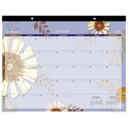"2018 AT-A-GLANCE® Monthly Desk Pad Calendar, January 2018-December 2018, 22""x17"", Paper Flowers Design (5035-18)"
