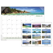 "2018 AT-A-GLANCE® Seascape Panoramic Monthly Desk Pad, 12 Months, January Start, 22""x17"" (89803-18)"