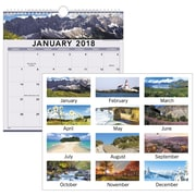 "2018 AT-A-GLANCE® Recycled Landscape Monthly Wall Calendar, 12 Months, January Start, 12""x12"", Wirebound (88200-18)"