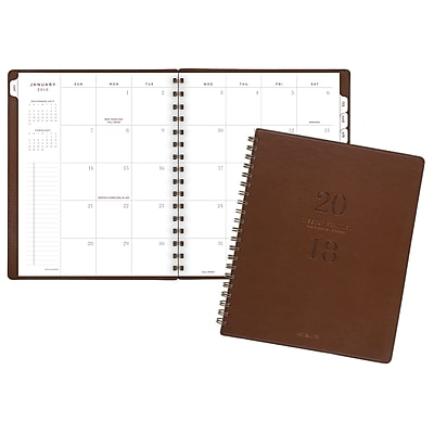 2018 AT-A-GLANCE® Signature Collection™ Monthly Planner, 13 Months, 7 1/4