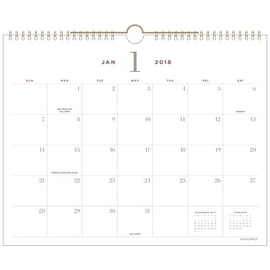 2018 AT-A-GLANCE® Signature Collection™ Monthly Wall Calendar, 12 Months, January Start, 15