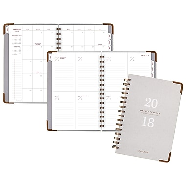 2018 AT-A-GLANCE® Signature Collection™ Weekly/Monthly Planner, 13 Months, 5 3/4