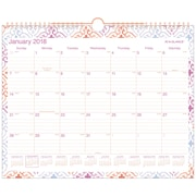 "2018 AT-A-GLANCE® Cecilia Monthly Wall Calendar, 12 Months, January Start, 15"" x 12"" (W1050-707-18)"