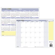 "2018 AT-A-GLANCE® Monthly / Yearly Wall Calendar, QuickNotes, Compact Erasable, Reversible, 16"" x 12"" (PM550B-28-18)"