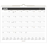 "2018 AT-A-GLANCE® Monthly Wall Calendar, January 2018-December 2018, 14-7/8""x11-7/8"", Contemporary, Wirebound (PM8X-28-18)"