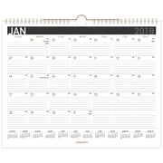 "2018 AT-A-GLANCE® Black Paper Monthly Wall Calendar, 12 Months, January Start, 15"" x 12"", Wirebound (PM8BP-28-18)"