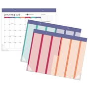"2018 AT-A-GLANCE® Harmony Monthly Desk Pad with Reusable Stickers, 12 Months, January Start, 22-1/16"" x 17-1/8"" (D6099-704-18)"