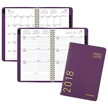 2018 AT-A-GLANCE® Contemporary Weekly/Monthly Planner, 4 7/8