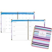 2018 AT A GLANCE Badge Weekly/Monthly Planner, 8 1/2 inch x11 inch Stripes (6082 905 18) by