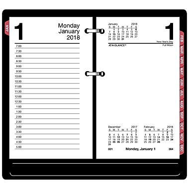 2018 At A Glance 174 Daily Loose Leaf Desk Calendar Refill