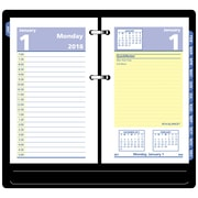 "2018 AT-A-GLANCE® QuickNotes® Daily Loose-Leaf Desk Calendar Refill, 12 Months, January Start, 3 1/2""x6"" (E517-50-18)"
