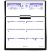 "2018 AT-A-GLANCE® Flip-A-Week Calendar and Base Set, Black Base and 12 Months of 5-5/8""x8"" pages(SW700X-00-18)"