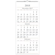 "2018 AT-A-GLANCE® 3 Month Wall Calendar, 14 Months, December Start, 12""x27"" (SW115-28-18)"