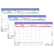 "2018 AT-A-GLANCE® Watercolors Compact Desk Pad, 12 Months, January Start, 17 3/4""x10 7/8"" (SK91-705-18)"