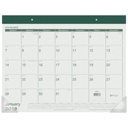"2018 AT-A-GLANCE® Monthly Desk Pad Calendar, January 2018 - December 2018, 22"" x 17"", Fashion Color, Green (SK25-03-18)"