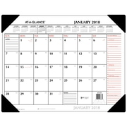 "2018 AT-A-GLANCE® Monthly Desk Pad Calendar, January 2018-December 2018, 22""x17"", Two-Color, Red and Black (SK1170-00-18)"