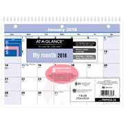 "2018 AT-A-GLANCE® Monthly Wall Calendar, QuickNotes®, January 2018-December 2018, 11""x8"", Wirebound, City of Hope (PMPN50-28-18)"