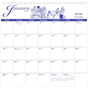 "2018 AT-A-GLANCE® Illustrator's Edition Monthly Wall Calendar, 12 Months, January Start, 12""x11 3/4"" (G1000-17-18)"