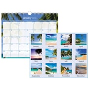 "2018 AT-A-GLANCE® Tropical Escape Wall Calendar, 12 Months, January Start, 15"" x 12"", Wirebound (DMWTE8-28-18)"