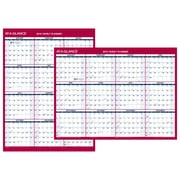 "2018 AT-A-GLANCE® Yearly Wall Calendar, 2-Sided Compact Vertical / Horizontal Erasable, 12"" x 15-11/16"" (PM330B-28-18)"