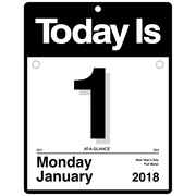 "2018 AT-A-GLANCE® ""Today Is"" Daily Wall Calendar, 12 Months, January Start, 9 3/8""x12"" (K4-00-18)"
