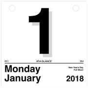 "2018 AT-A-GLANCE® ""Today Is"" Daily Wall Calendar Refill, 12 Months, January Start, 6""x6"" (K1-50-18)"