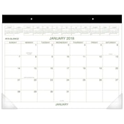 "2018 AT-A-GLANCE® Two Color Monthly Desk Pad, 12 Months, January Start, 22""x17"" (GG2500-00-18)"