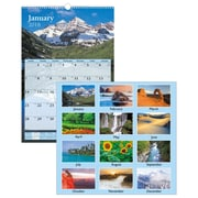 "2018 AT-A-GLANCE® Scenic Wall Calendar, 12 Months, January Start, 15-1/2"" x 22-3/4"", Multicolor (DMW201-28-18)"