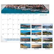 "2018 AT-A-GLANCE® Harbor Views Panoramic Desk Pad, 12 Months, January Start, 22"" x 17"", White (DMD145-32-18)"