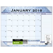 "2018 AT-A-GLANCE® Slate Blue Monthly Desk Pad, 12 Months, January Start,  22"" x 17"" (89701-18)"