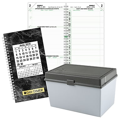 2018 Day-Timer® Classic Two Page Per Day Refill, Pocket Size, 3 1/2