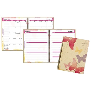 2018 AT-A-GLANCE® Watercolors Recycled Weekly/Monthly Planner, 8 1/2