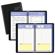 "2018 AT-A-GLANCE® QuickNotes® Daily/Monthly Appointment Book, 4 7/8""x8"", Black (76-04-05-18)"