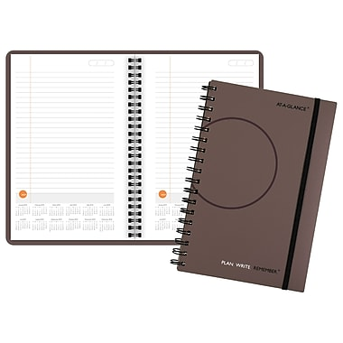 2018 AT-A-GLANCE® Plan.Write.Remember.® Planning Notebook with Reference Calendars, Undated, 5 5/8