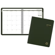 """2018 AT-A-GLANCE® Recycled Monthly Planner, 6 7/8""""x8 3/4"""", Wirebound, Green (70-120G-60-18)"""
