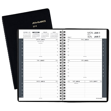 2018 AT A GLANCE® Weekly Appointment Book/Planner, 4 7/