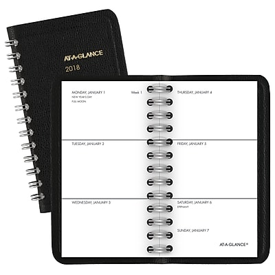 2018 AT-A-GLANCE® Unruled Weekly Pocket Planner, 2 1/2