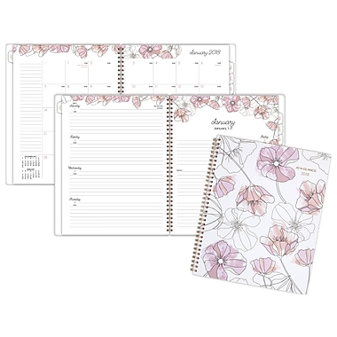 2018 AT-A-GLANCE® Blush Weekly/Monthly Planner, 8-1/2