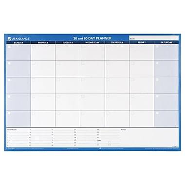 AT-A-GLANCE® 30/60-Day Undated Horizontal Erasable Wall Calendar, Reversible, 36