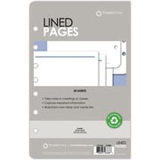 "Franklin Covey® Lined Pages for Organizer, 50 Sheets, 5 1/2"" x 8 1/2"", White (26888)"